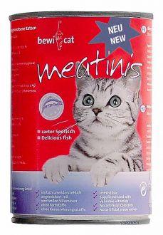 BEWI CAT meatinis pro kočky - mořské ryby 400 g